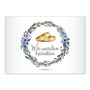 15 X Save The Date Tarjetas con sobres/SE nos casamos – 2 Anillos/