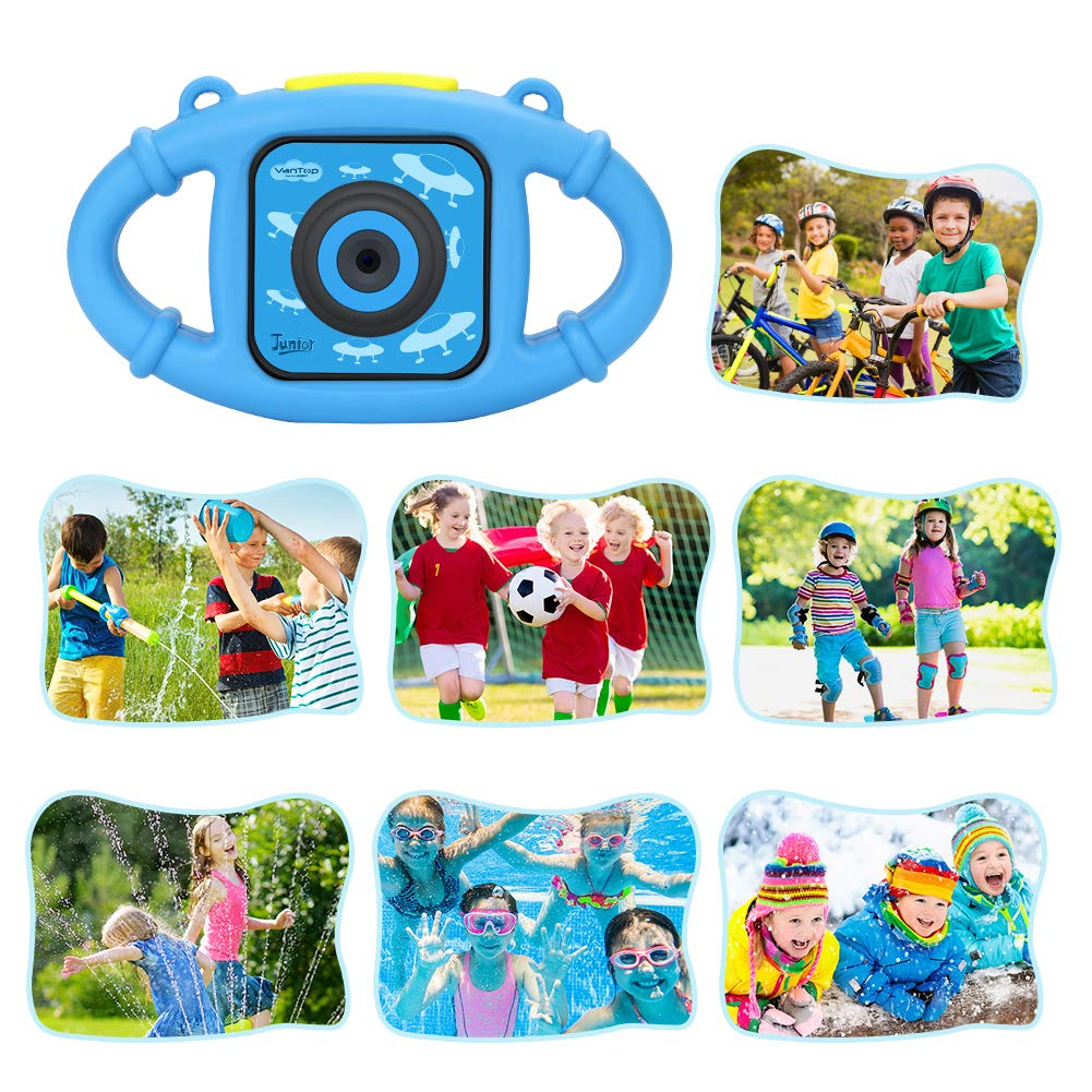 VanTop Junior K3 Kids Camera, 1080P Supported Waterproof Video Camera w/ 16Gb Memory Card, Extra Kid-Proof Silicon Case by VanTop (Image #8)