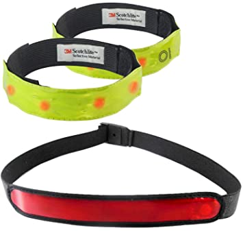 alphasonix  Alphasonix High Visibility Reflective 4 LED Safety Armbands (2) and ...