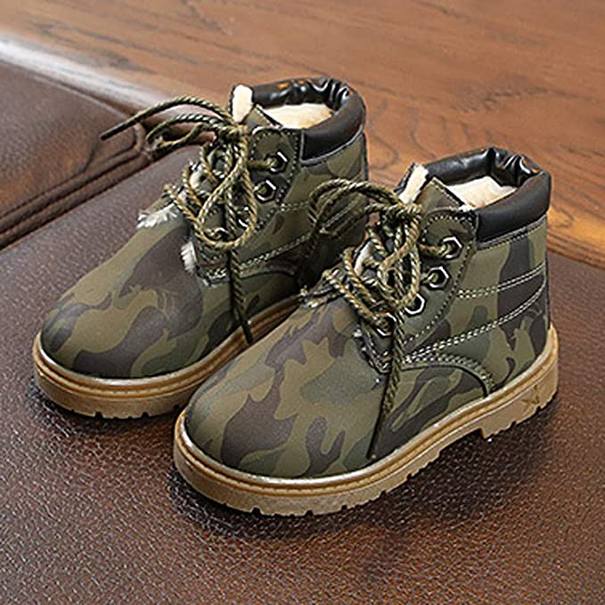 Kimanli Toddler Kids Baby Girls Boys Camouflage Mesh Sport Running Casual Shoes