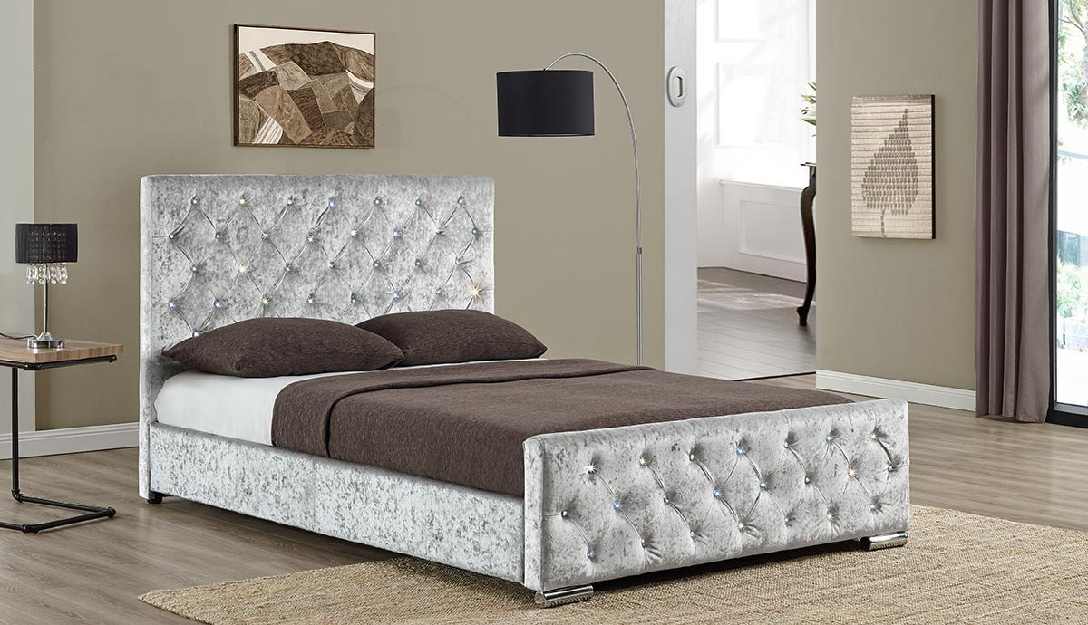 Sleep Design Stoff Designer Beaumont mit Nieten Luxury Gepolsterten ...