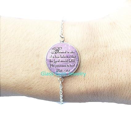 Bible Quote Bracelet Best Friend God Refuge Strength Birthday Gift Mom Daughter Jewelry Sympathy