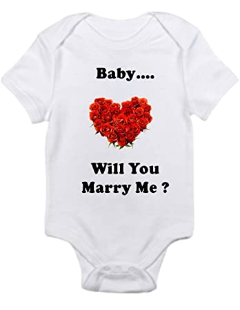 ffe5f92b8 Amazon.com  Baby will you marry me sweet way to propose Shirt Infant ...