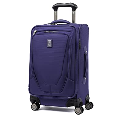 Travelpro Luggage Crew 11 21  Carry-on Expandable Spinner w/Suiter and USB Port, Indigo
