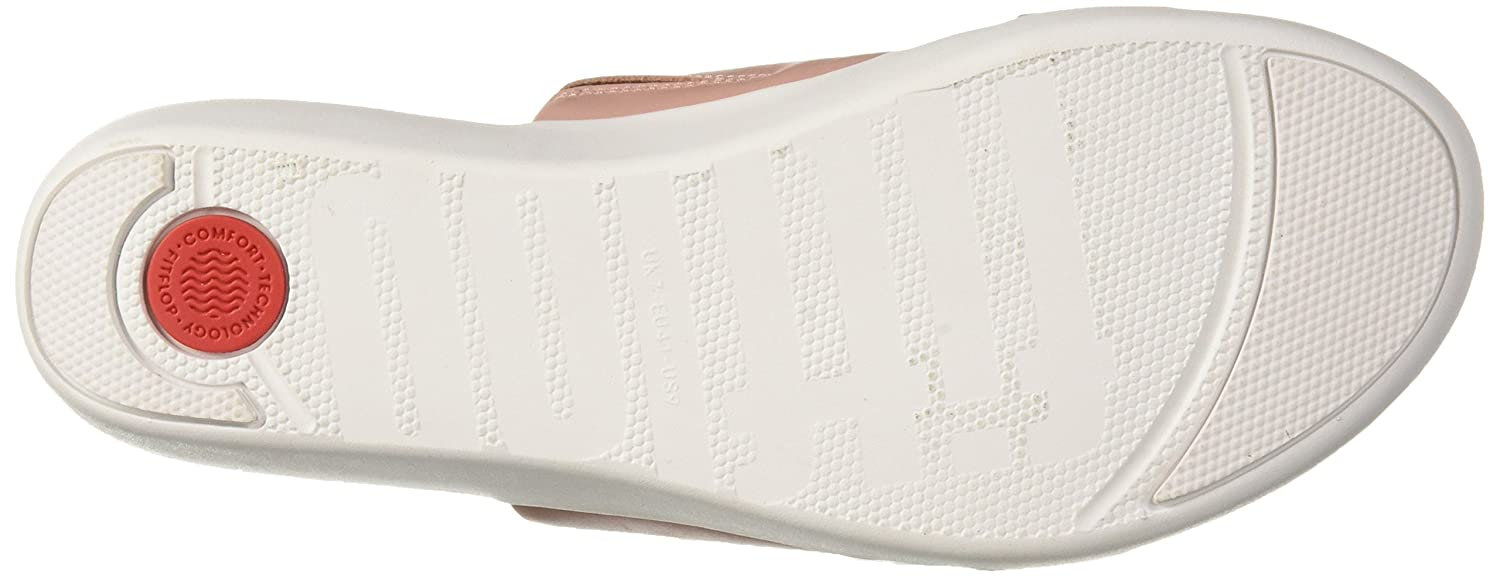 FitFlop Women's Delta Leather Crystal Slide Sandal B0774ZZL24 5 M US|Dusky Pink