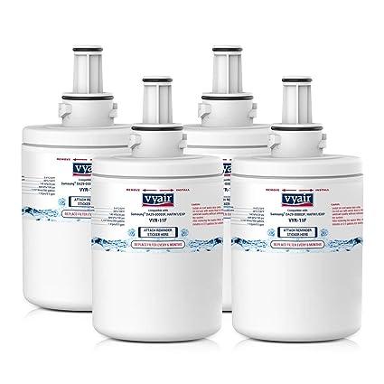 4 x VYAIR VYR-11F refrigerador de hielo y agua filtros para adaptarse a Samsung