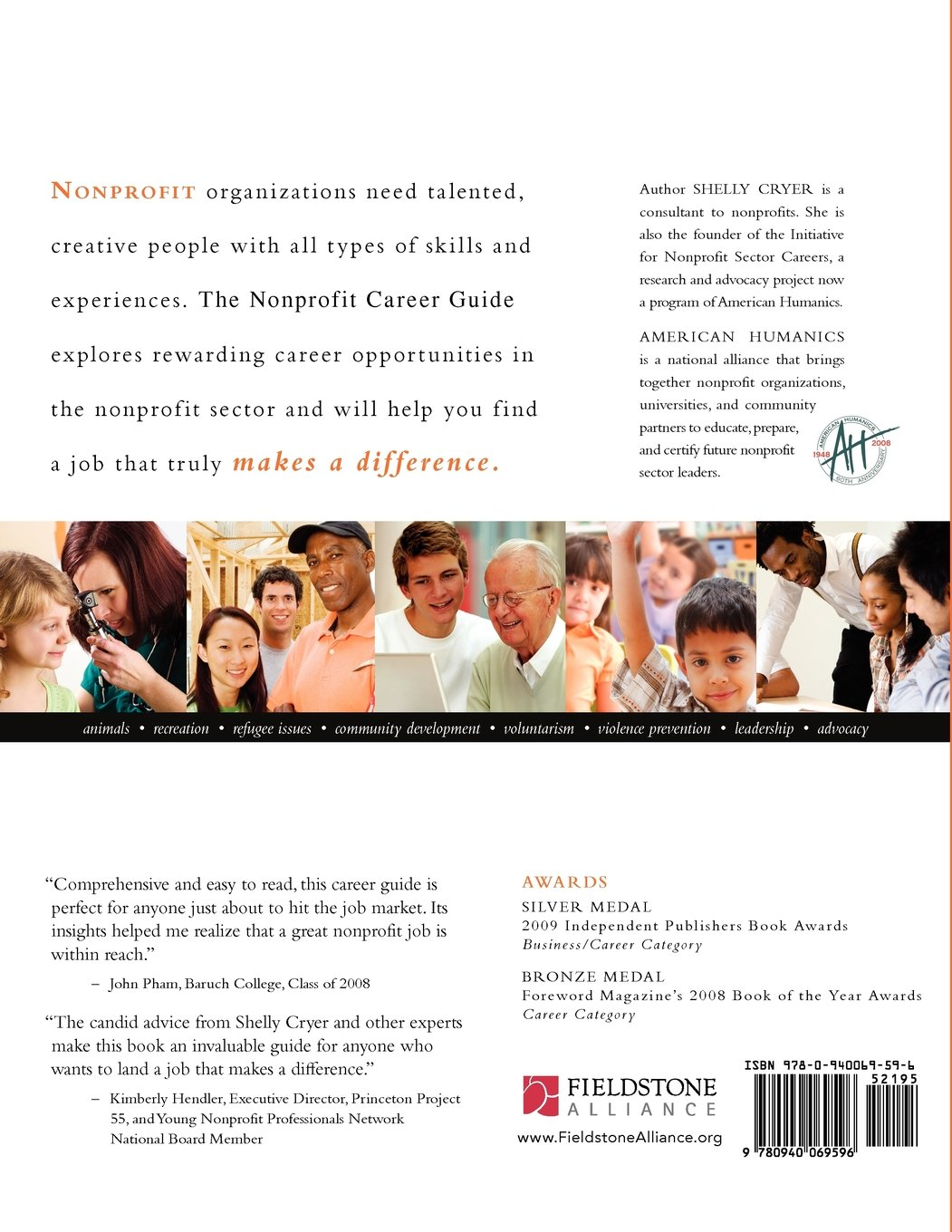 The Nonprofit Career Guide: How to Land a Job That Makes a Difference:  Shelly Cryer: 9780940069596: Amazon.com: Books