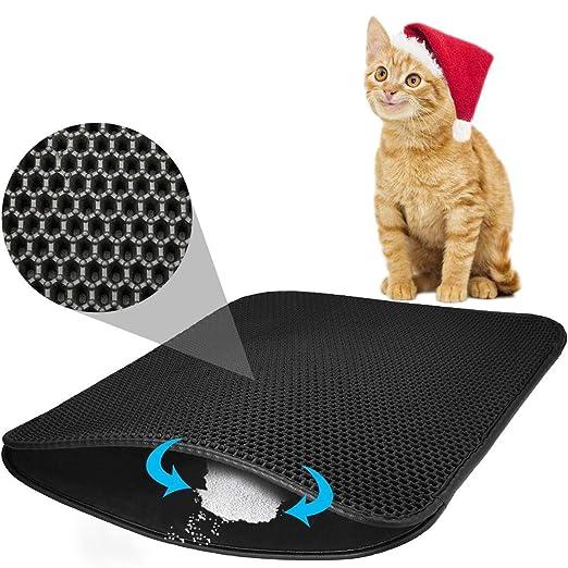 MAGO Colchoneta para Gatos con Orificio Hexagonal, Honeycomb Diseño ...