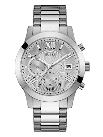 Amazon.com: Guess cuarzo acero inoxidable reloj Casual de ...