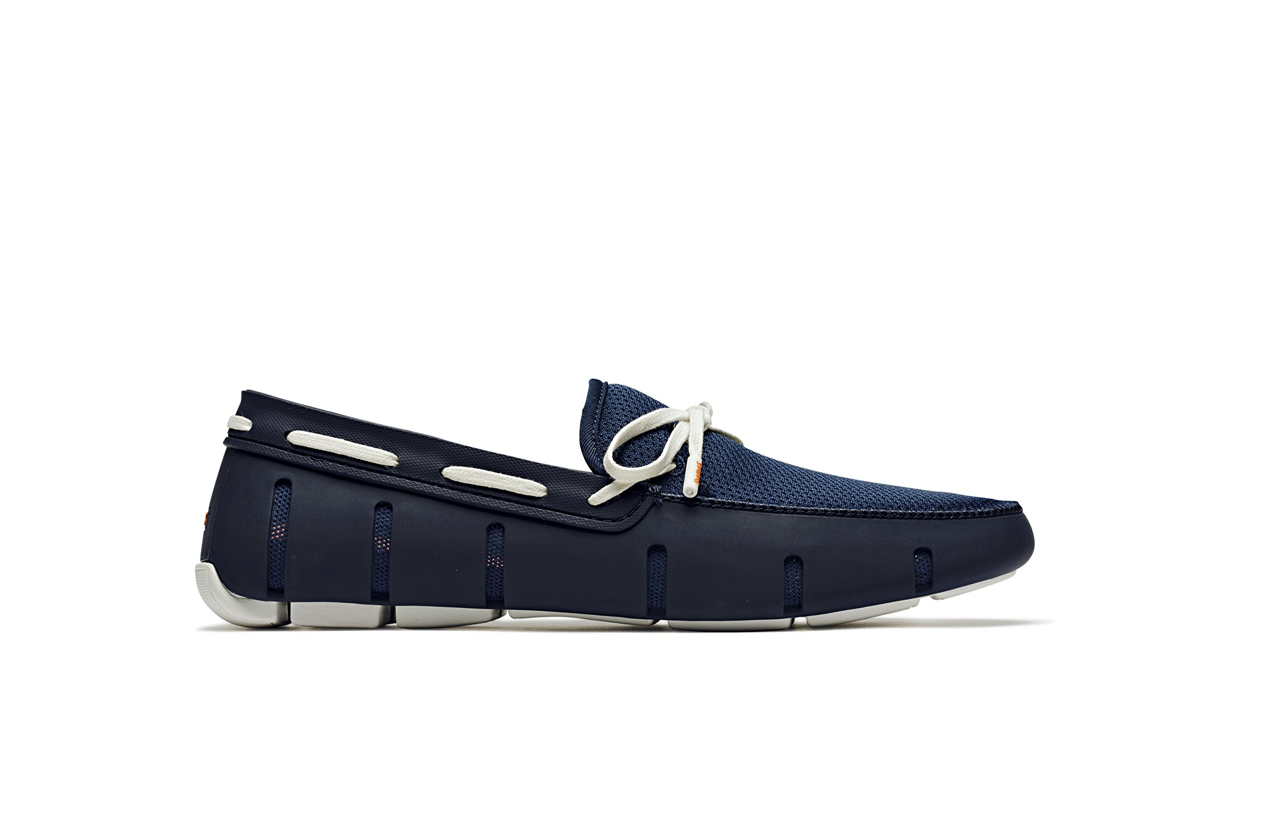 SWIMS Men's Lace Loafer for Pool - Navy/White, 10 D(M) US