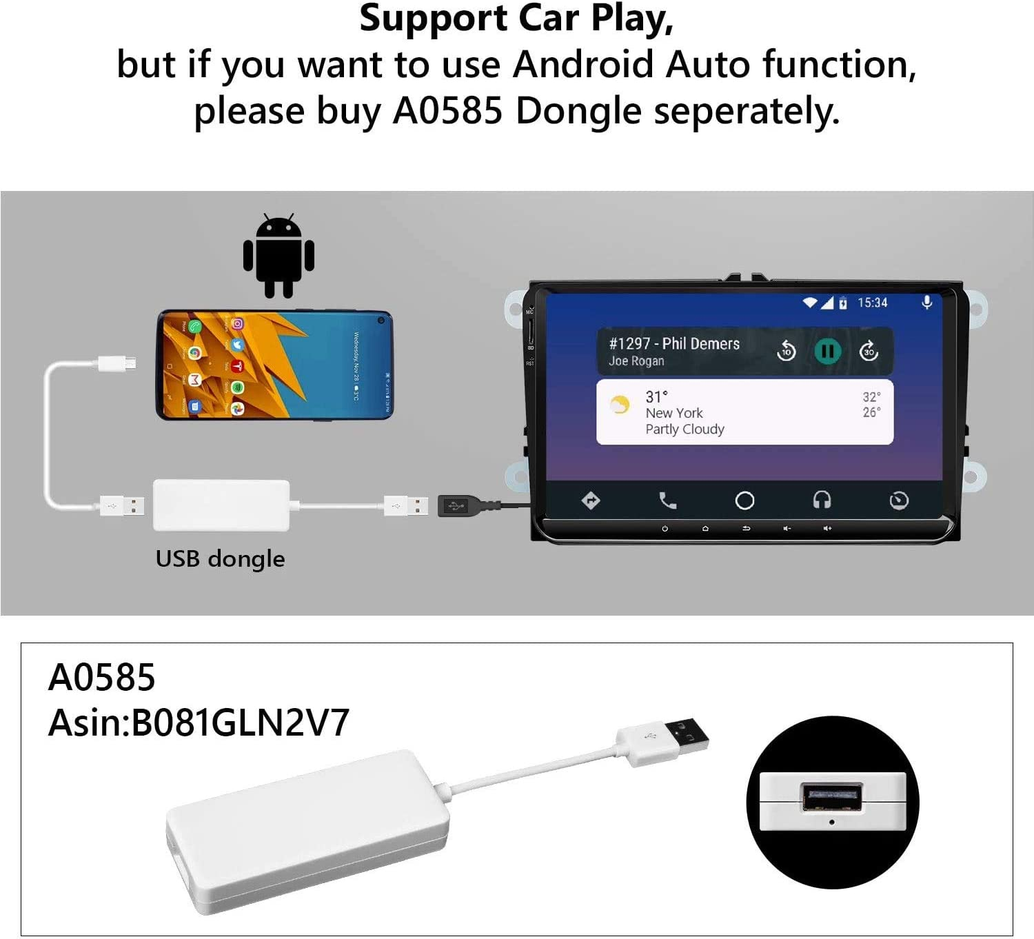 2020 Newest Car Setreo Eonon Android 10 Double Din Car Radio 32GB ROM Compatible withVolkswagen//SEAT//Skoda fit Fender System Support Apple Carplay//Android Auto//WiFi//Fast Boot-9 Inch-GA9453B