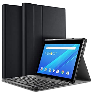 brand new d4f05 08333 IVSO Keyboard Case for Lenovo TAB E10 , Slim PU Case: Amazon.co.uk ...