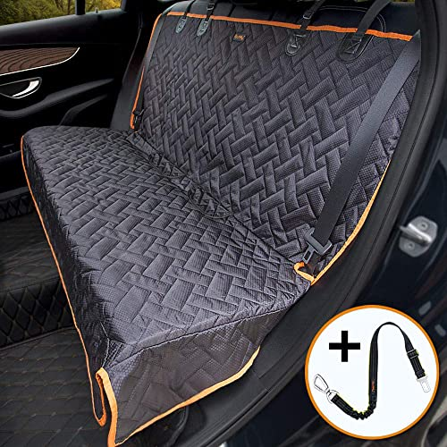 iBuddy Bench Car Seat Cover for Car SUV Small Truck, Waterproof Back Seat Cover for Kids Without Smell, Heavy Duty and Nonslip Pet Car Seat Cover for Dogs, Machine Washable