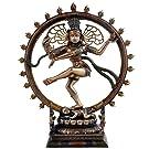CraftVatika Shiva Idol Escultura de Nataraja Baile Envejecido fabricado a mano Nataraj Pratima Estatua Figura | Home Decor