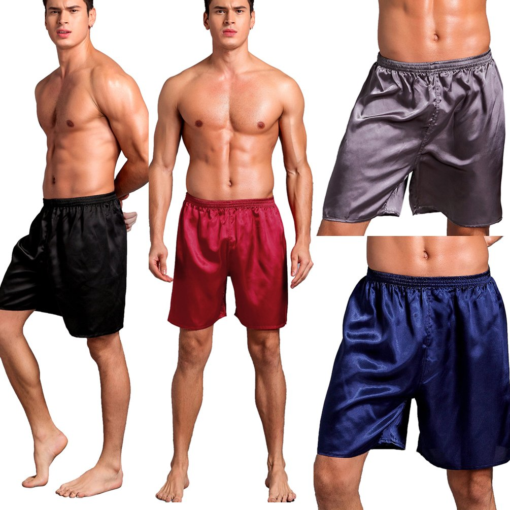 SexyTown Men's 4-Pack Boxer Brief Shorts Underwear Anniversary Gifts for Men X-Large 4-Pack