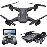 VISUO XS816 4k Drone with Camera Live Video, Teeggi WiFi FPV RC Quadcopter with 4k Camera Foldable Drone for Beginners…