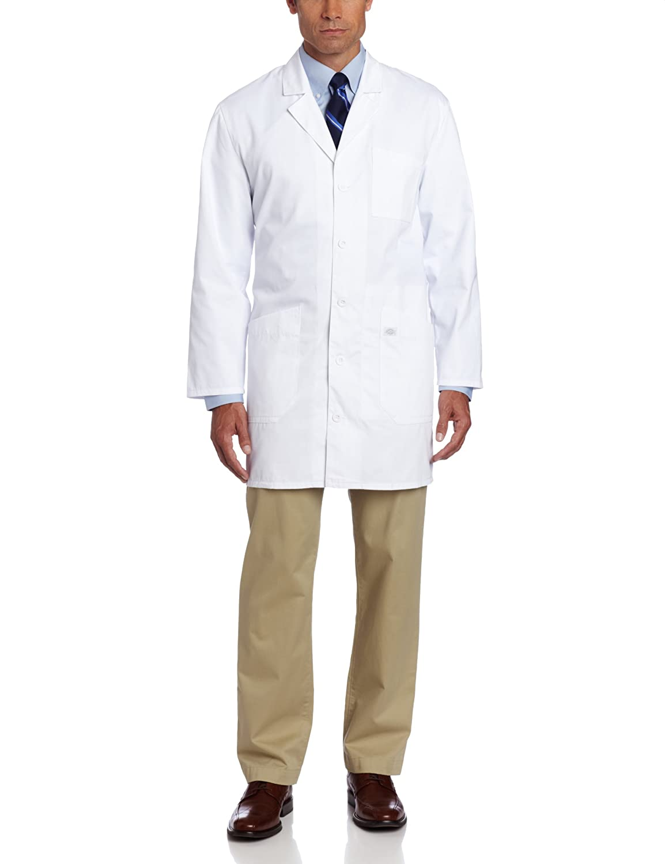 White lab apron - Dickies 37 Inch Unisex Ipad Lab Coat