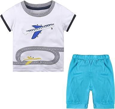 Nwada Ropa Bebe Niño Conjunto Camiseta y Pantalon Corto Disfraz ...