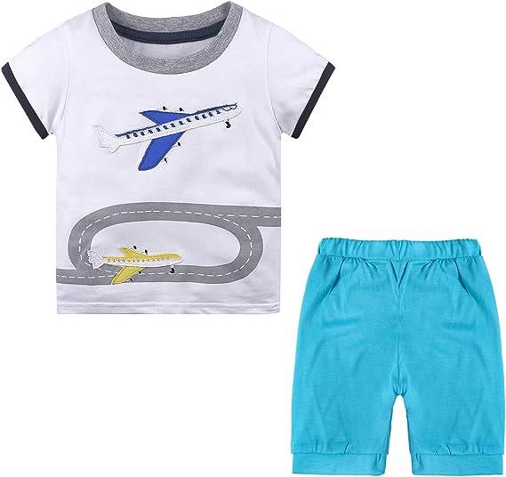 Ropa Niño Conjunto Camisa Avión y Pantalon Corto Azules Disfraz ...