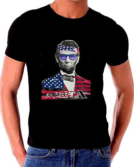 a85e618d Abraham Lincoln Flag Headband & Shirt America Novelty T shirt Patriotic  (XXXL)