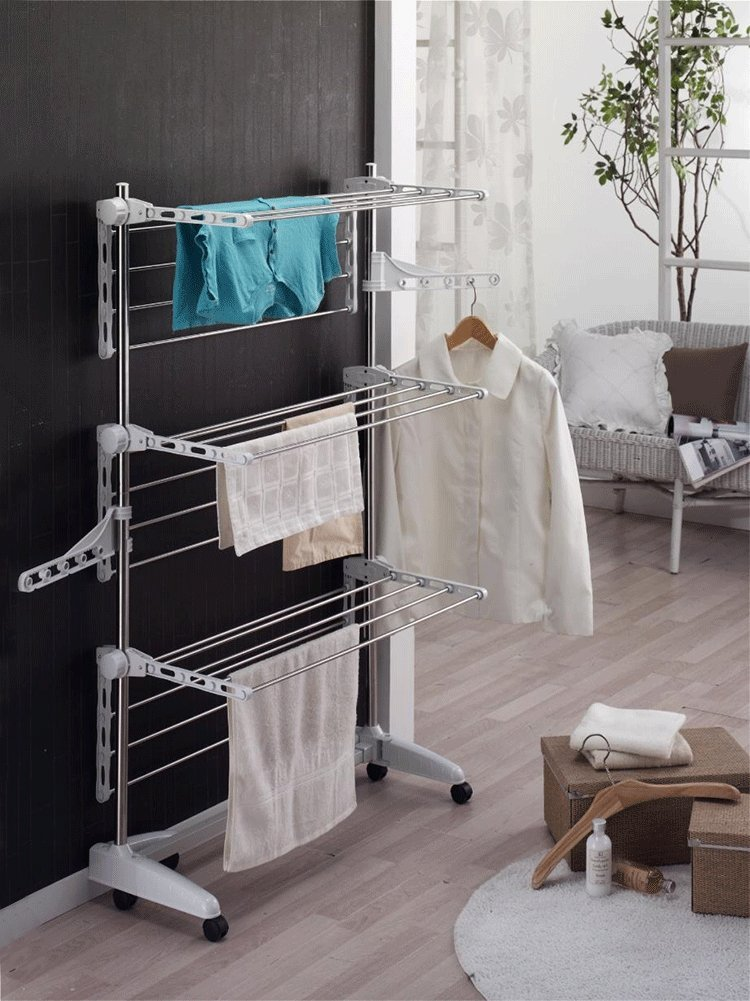 Indoor Folding Clothes Drying Rack Laundry Dryer Hanging Hanger Organizer(Item#251381) CN