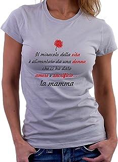 Tshirt Il Miracolo della Vita - Festa della Mamma - Tutte Le Taglie by tshirteria t-shirteria