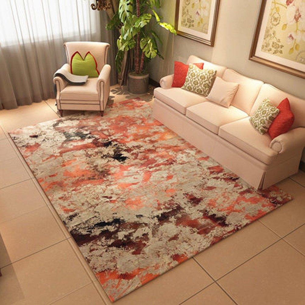soggiorno in stile nordico con moquette da comodino con copriletto rettangolare Non Slip Mat RUG LUYIASI Tappeto moderno semplice da salotto con tavolino da caffe