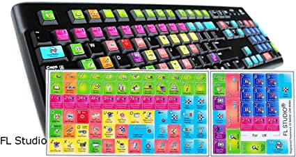 FL Studio Keyboard Stickers Shortcut 11 5x13mm