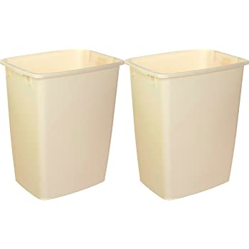 21 Qt Large Open Wastebasket Extraordinary Amazon Rubbermaid FG60BISQU 60 Qt Bisque Wastebaskets Home