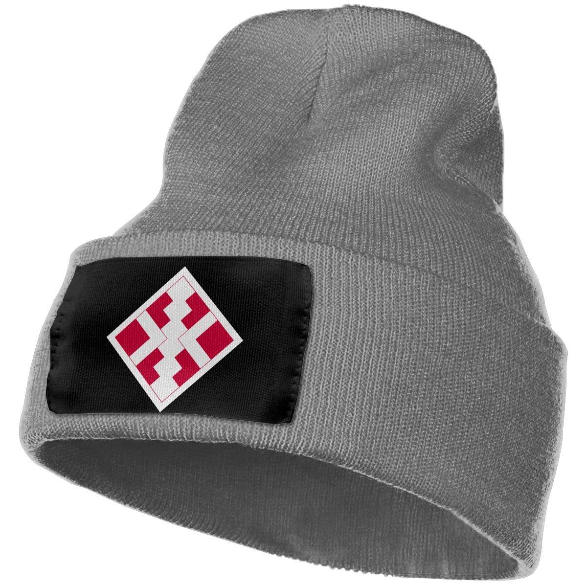 411th Engineer Brigade Men/&Women Warm Winter Knit Plain Beanie Hat Skull Cap Acrylic Knit Cuff Hat
