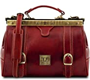 Tuscany Leather Monalisa Doctor gladstone leather bag with front straps Red