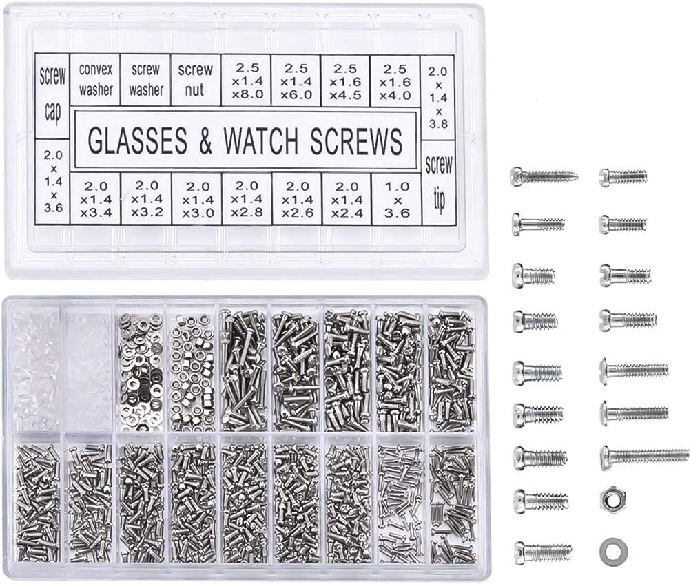 UK BASED 40 SMALL TINY MICRO MINIATURE SCREWS FOR GLASSES WATCHES TOYS DF SIZES