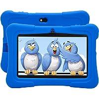 Tableta Infantil HXY con WiFi Bluetooth 1024x600 Android 6.0 Quad-Core 1GB, cámara Dual de 16GB, Carcasa de Tableta Anti-Infantil, educación Infantil