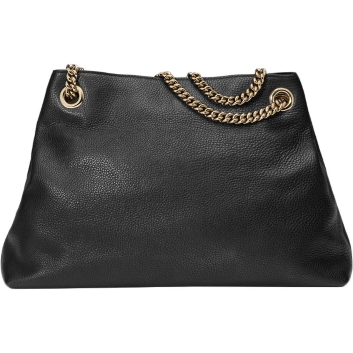 c846488e244 Amazon.com  Gucci Soho Large Leather Chain Shoulder Handbag Black BHFO  5480  Clothing
