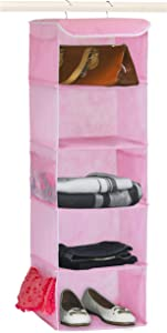 Simple Houseware SHW 5 Shelves Hanging Organizer, Pink