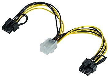 Poppstar - Cable de alimentación de Tarjeta gráfica PCI ...