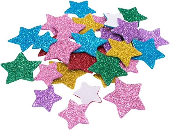 Star Thin Glitter Embellishment Ideal for Card Making 50pcs.