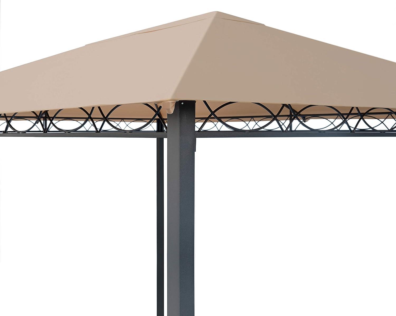 TOOLPORT Cenador de jardín 3x4 m cenador Impermeable pabellón con ...