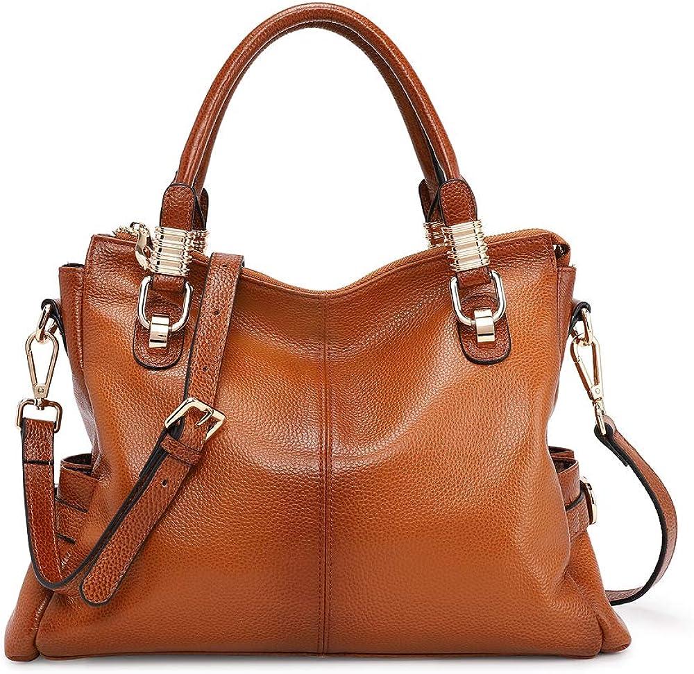 Kattee Women s Genuine Leather Purses and Handbags, Satchel Tote Shoulder Bag