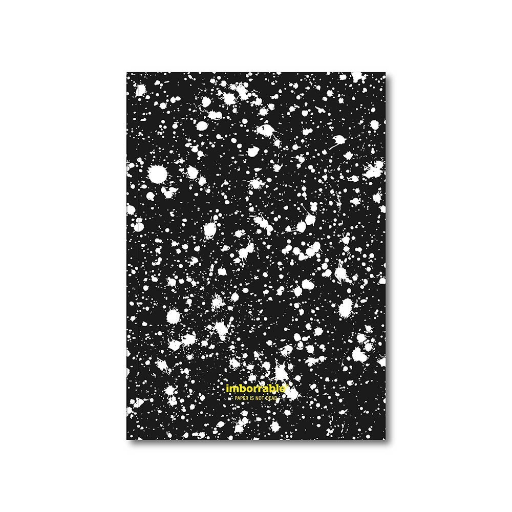 Indelible–Notebook 144Pages with Black Spots Stripes, A5, 14.8x 21cm