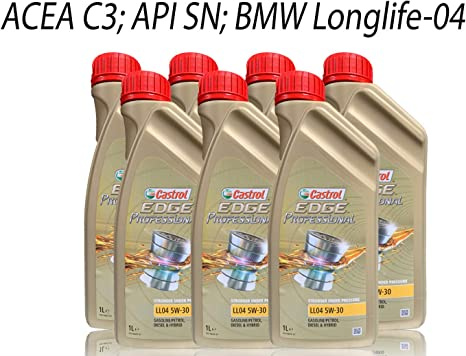 Castrol Edge Professional Longlife Iv Ll04 Engine Oil 5w 30 7 Litres Auto