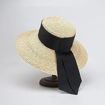 HCIUUI Sombreros de Primavera y Verano para Mujer Gorros de Paja de Trigo Europa y Estados. Pasa el ratón por ...