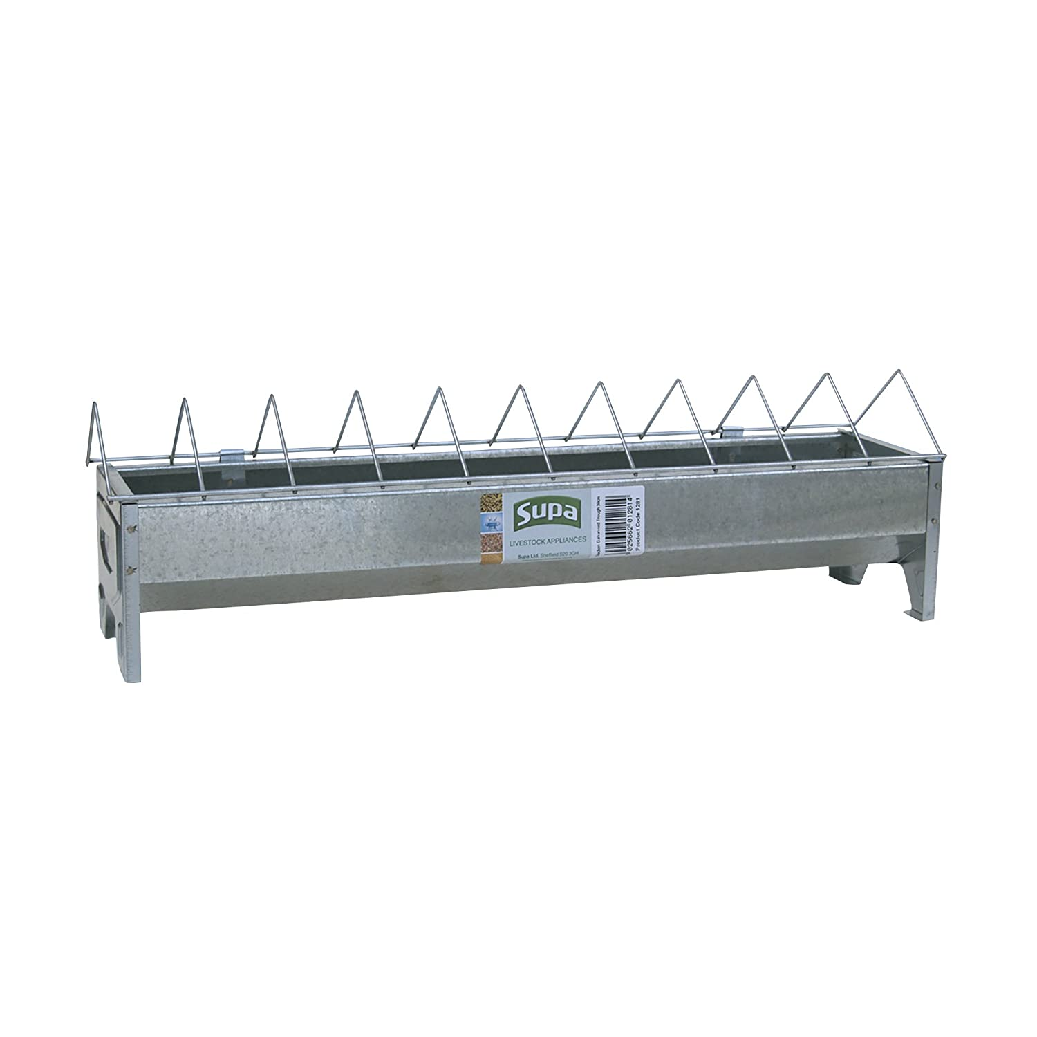 Supa Galvanised Chicken Feed Trough With Grid