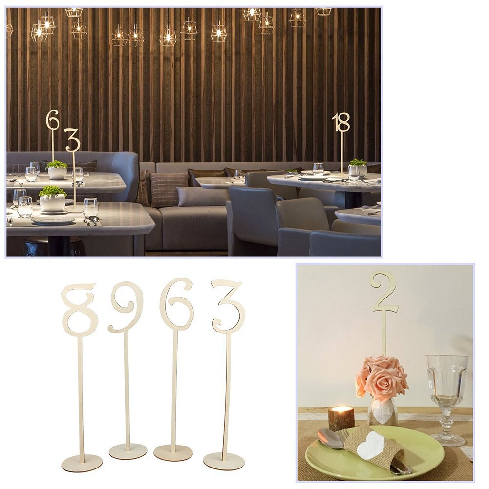 20PCS Number 1-20 Seat Card Wedding Banquet Number Place Holder Decoration Wedding Party Supplies by Aneil (Image #3)