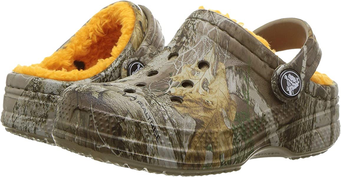8e7ed03bc28524 Crocs Kids Unisex Winter Realtree Edge Clog (Toddler Little Kid)  Chocolate Orange