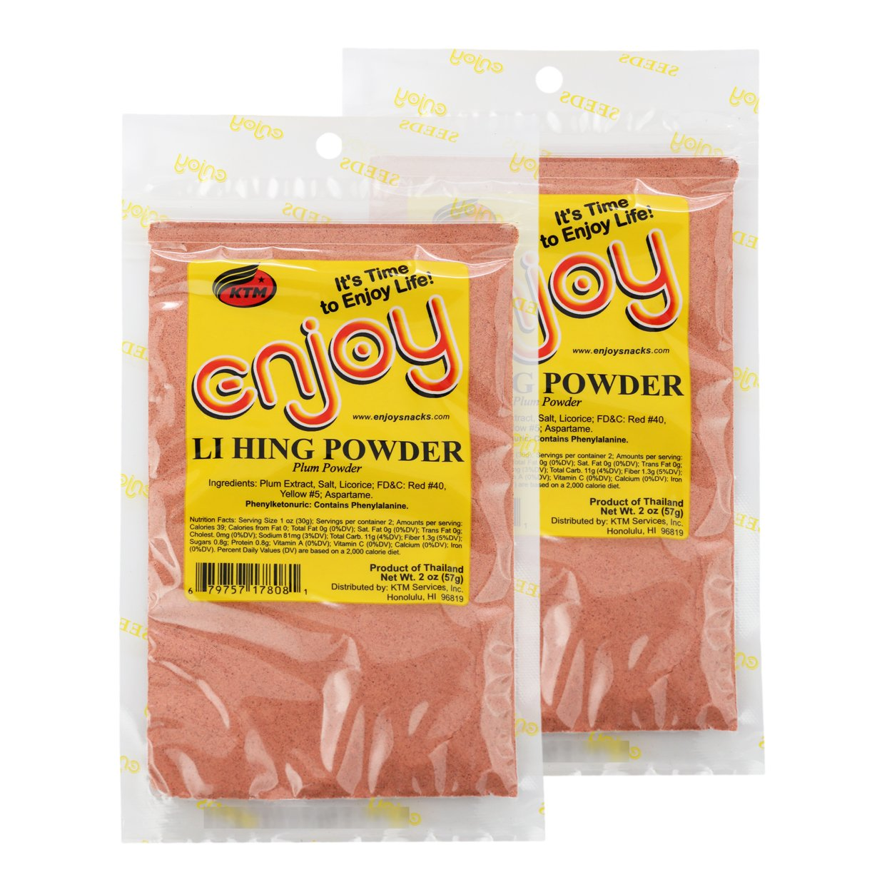 Li Hing Mui Powder (2 Packages)