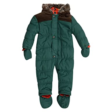 46dbb1a5c Baby Boys Snowsuit BHS RRP £24 Green Padded Hooded All in ONE ...