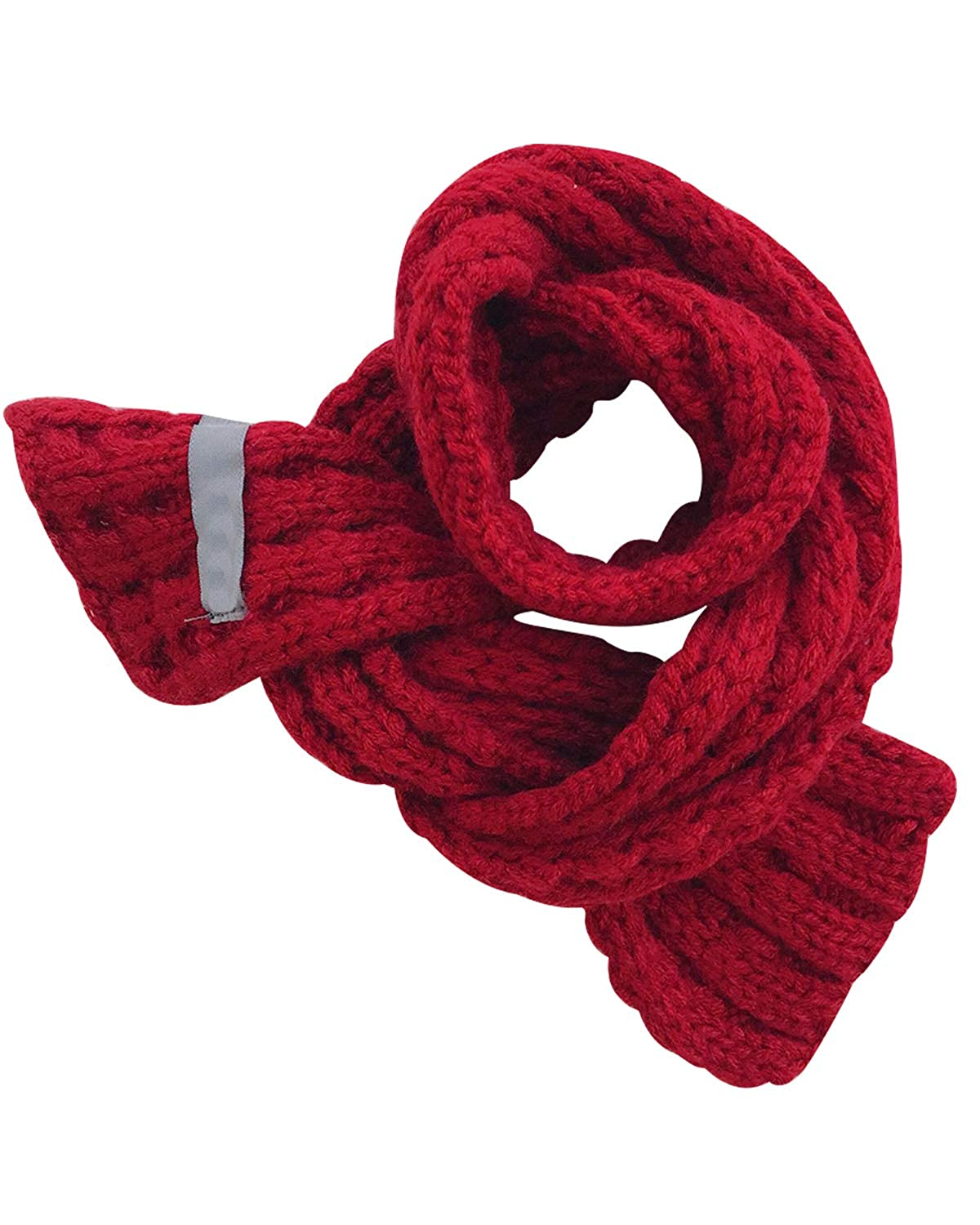 DULEE Boys Girls Autumn Winter Scarf Fashion Warm Knitted Scarf Neckerchief for Christmas Thanksgiving New Year Gift