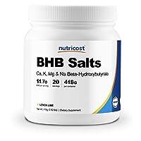 Nutricost Exogenous Ketone Salts Beta-Hydroxybutyrate (BHB) Lemon-Lime 20 Servings...