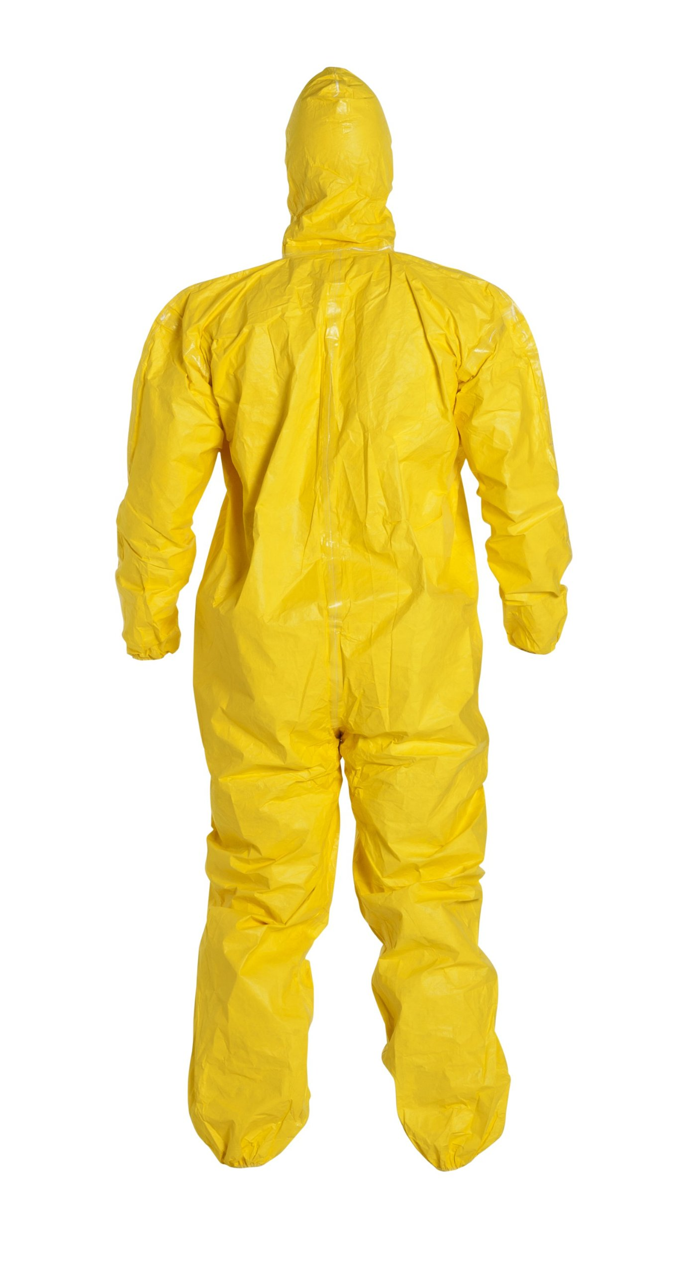 DuPont Tychem 2000 QC127S Disposable Chemical Resistant Coverall with Hood, Elastic Cuff and Serged Seams, Yellow, X-Large (Pack of 12) by DuPont (Image #4)